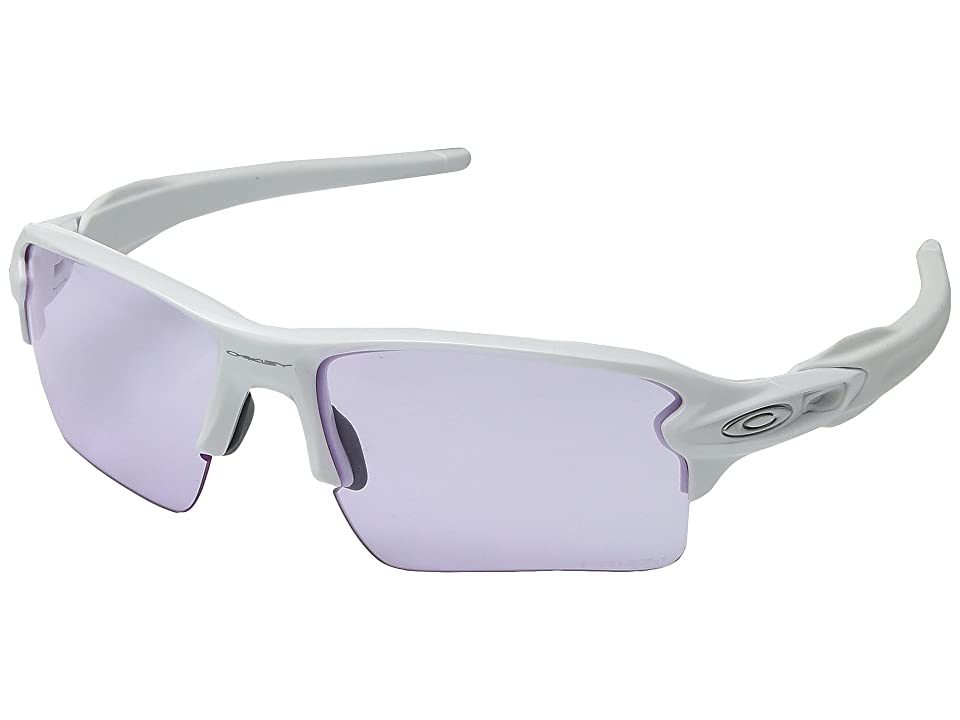 Oakley Flak 2.0 XL (Polished White w/ Prizm Low Light) Fashion Sunglasses