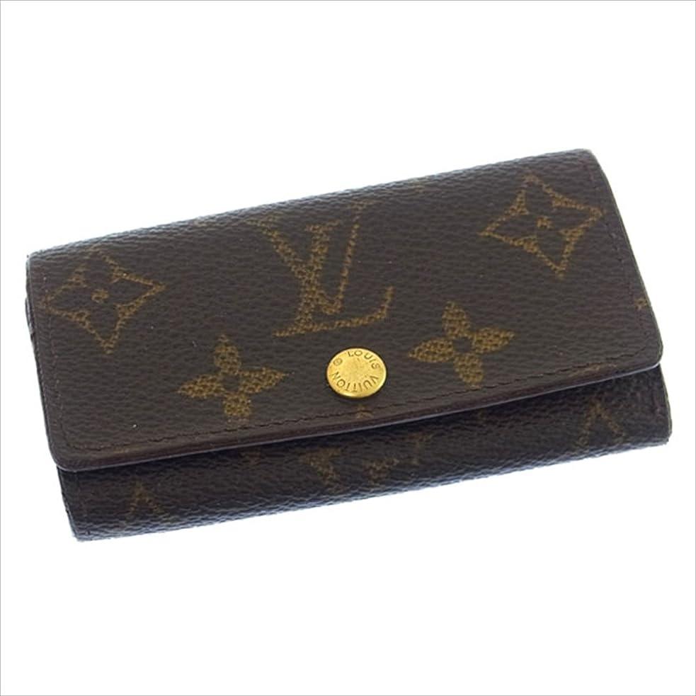 者大混乱考慮(ルイヴィトン) Louis Vuitton キーケース 4連キーケース ブラウン ミュルティクレ4 モノグラム レディース 中古 C1210