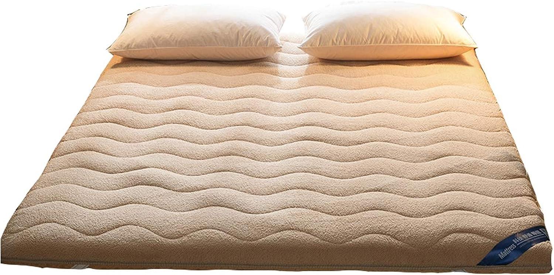 Japanese Futon Mattress, Sleeping Tatami Floor mat Thick Quilted Japanese Style Futon Mattress pad Thick Mattress Topper Camping mat for Dorm Bedroom Yoga,Camel,90  190cm