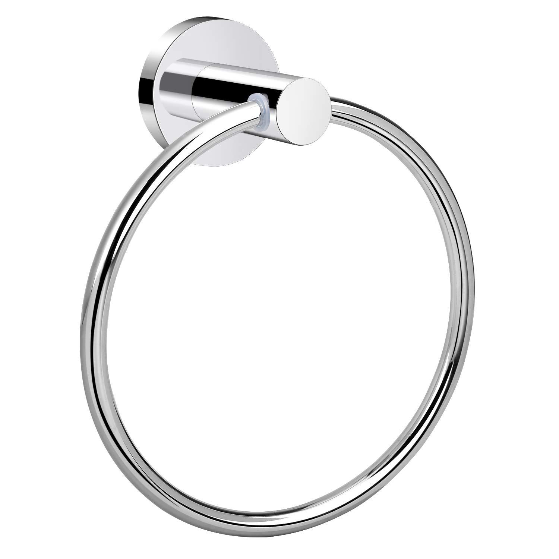 White Zinc Kitchen Bathroom Hand Towel Ring Holder Display Organizer Wall Mount