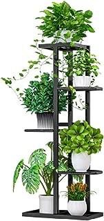 Iron Flower Plant Stand Indoor 5 Tier Metal Plant Stand Flower Pots Stander Display Pots Holder (Black)