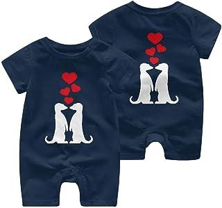 RROOT Baby-Body mit Erdmännchen in Love1, kurzärmelig, 0-24 Monate