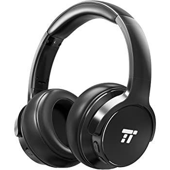 TaoTronics ANC ノイズキャンセリング Bluetooth ヘッドホン 密閉型 (30時間連続再生 折畳式 マイク内蔵) 機内オーディオ変換アダプタ 収納ケース付 TT-BH040