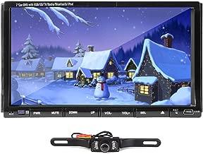 2 Din Car Stereo Autoradio Radio Headunit AM FM Bluetooth in Dash DVD CD iPod Player 7 Inch LCD Touchscreen Backup Camera