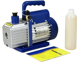 F2C 3,5 CFM 1/4HP Single-Stage Rotary Vane Vacuum Pump Air Conditioner Refrigeration HVAC Air Tool AC R410a Single Stage