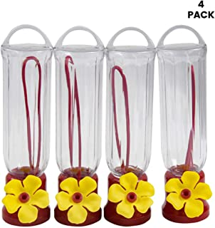Hummingbird Feeder with Hanging Wires/Easy Cleanup/Leakage Prevent Mini Hummingbird Feeders for Outdoors(4 Pack,2.3 oz)