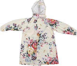 [Janjunsi] 子供用 ポンチョ レインコート キッズ 雨具 花柄 小学生 便利 通学 超軽量