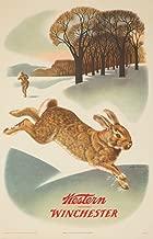 Western Winchester (rabbit) (artist: Pursell and Woods) USA c. 1955 - Vintage Advertisement (9x12 Fine Art Print, Home Wall Decor Artwork Poster)
