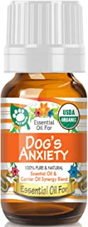 Essential Oil for Your Dogs Axiety (USDA Organic - 100% Pure) Unique Blend of Essential Oils Recomended by Aromatherapists for Aromatherapy - 10ml