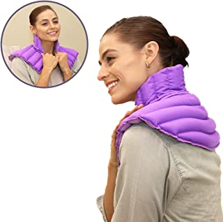 My Heating Pad for Neck and Shoulders Pain Relief   Moist Heat Heating Pad   Neck Heating Pad Microwavable   Shoulder Heating Pad for Sore Muscles, Stress, Tension   Hot Rice Bags Therapy -Purple Plus