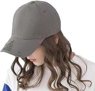 Hats Cool Baseball Cap Multi Color Triangle Letters Women's Cotton Sun Hat Fashion (Color : Gray, Size : Adjustable)