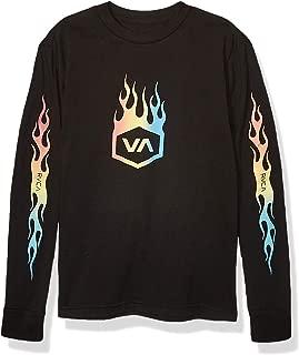 RVCA Boys B451WRFO Forged Long Sleeve Crew Neck T-Shirt Long Sleeve T-Shirt