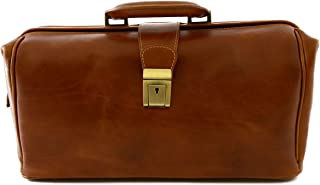 Borsa Per Dottore In Pelle Vera, 1 Scomparto Colore Cognac - Pelletteria Toscana Made In Italy - Business