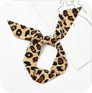 New 90cm Leopard Print Chic Unique Lady Silk Chiffon Riband Scarves Decorative Scarf