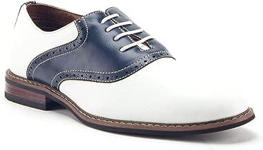Ferro Aldo Men's 19268A Two Tone Saddle Lace Up Oxfords Dress Shoes