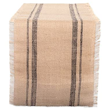 DII 14x108  Jute/Burlap Table Runner, Border Mineral Gray - Perfect for Fall, Thanksgiving, Catering Events, Farmhouse Décor, Dinner Parties, Special Occasions or Everyday Use