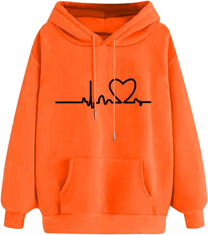 BAGELISE Hoodies for Women Plus Size,Women's Teen Girls Camouflage Long Sleeve Pullover Casual Loose Hooded Sweatshirts