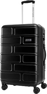 American Tourister Bricklane Hard Medium Luggage trolley bag, Jet black, 68cm Spinner