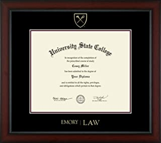 Emory University School of Law - Officially Licensed - Gold Embossed Diploma Frame - Diploma Size 17