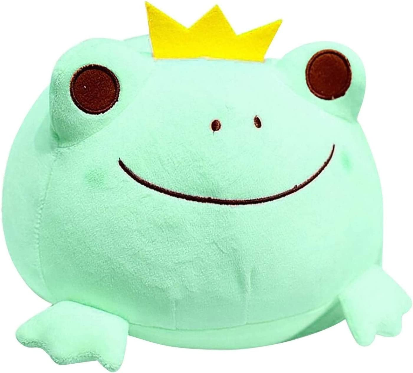 Andees Durable Frog Stuffed Animal Stretchy Plush Frog Crown Pillow Doll Cuddly Gift for Birthday Kids Girls Boys Frogs Plushies 17, Green Super Soft Frog Plush Frog Stuffed Animal Toys