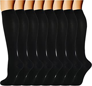 ACTINPUT Compression Socks 8 Pairs for Women & Men 15-20mmHg-Best..