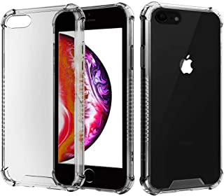 Manords Clear iPhone 6 Plus Case, Soft Silicone Shock Absorption Full Cover Protective with Extra Screen Protector (Clear Gray)