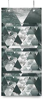 XIXIKO Sac de rangement mural à suspendre avec 3 poches Motif géométrique Triangle Océan Pour vêtements, articles divers, ...