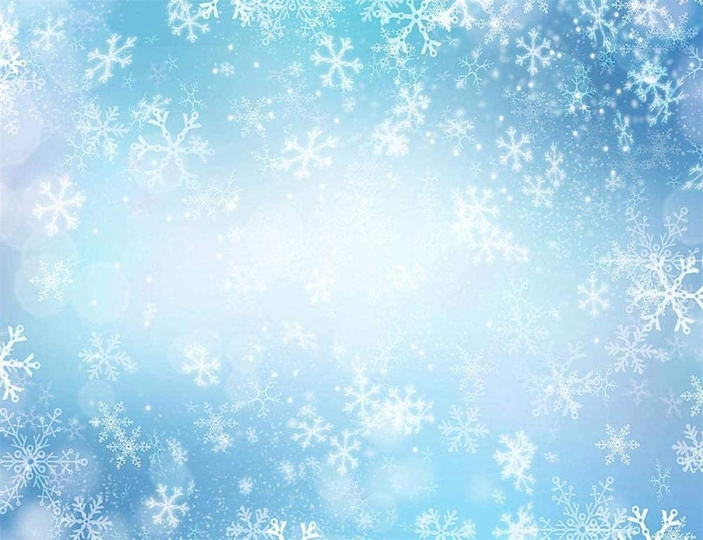 Zhy Winter Wonderland Blue Snowflake Fairy Background World of Ice and Snow Vinyl Photography Backdrop Birthday Party Decor Banner Girl Child Baby Shower Photo Shoot Portrait7X5FT