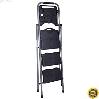 COLIBROX--New HD 3 Step Ladder Platform Folding Stool 330 LBS Capacity Space Saving w/Tray,step ladder home depot, lowes step stools, little giant extension ladder, step ladder walmart