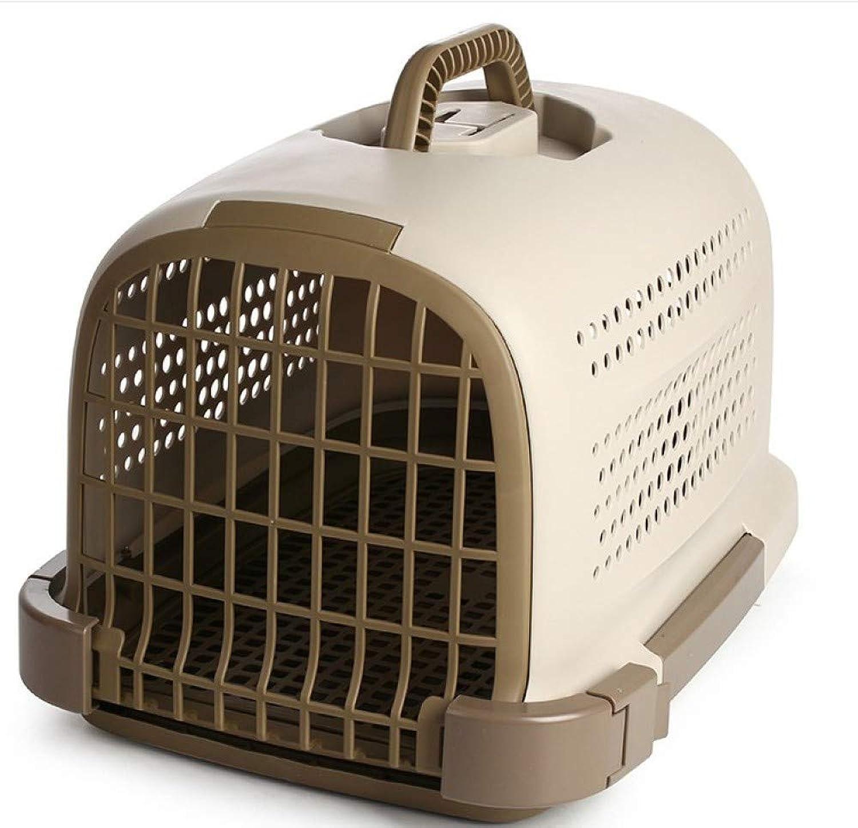 Portable Breathable Pet Kennel Cat Dog Travel Pet Carrier Pet Air Box 49  33  28cm,Brown