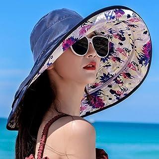 TYMYJF Aumentar Viseraverano Sol Desmontablesombrero De Playaprotección UV Sombrerocubierta De Dama Cara Sol Sombrero
