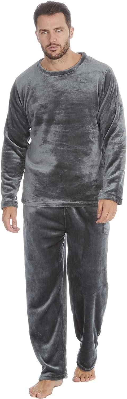 Mens Soft Polished Fleece Lounge Pajama Set
