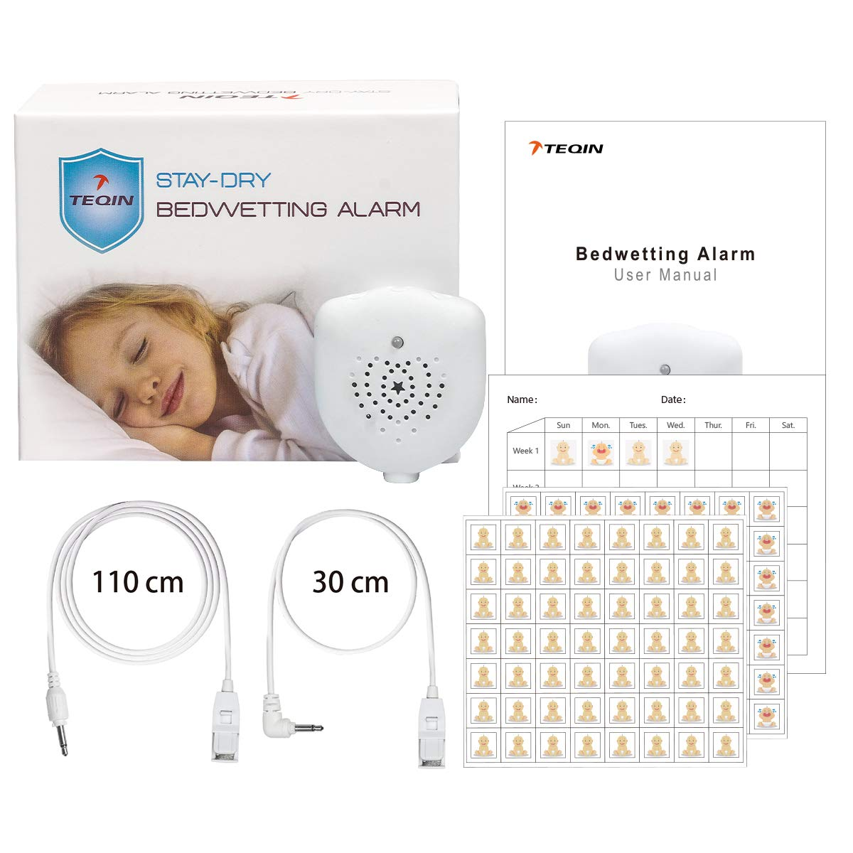 TEQIN Bedwetting Rechargeable Selectable Vibration
