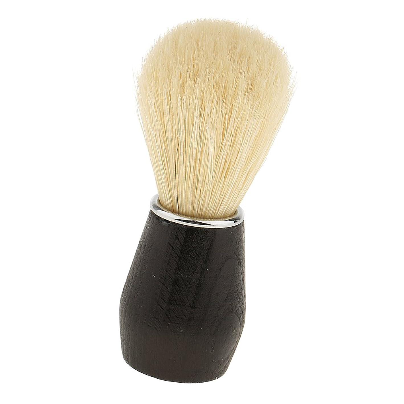 どちらかゴミ箱実験Baosity 父のギフト ソフト 実用的 プロフェッショナル バーバーサロン家庭用 ひげ剃りブラシ プラスチックハンドル フェイシャルクリーニングブラシ ブラック