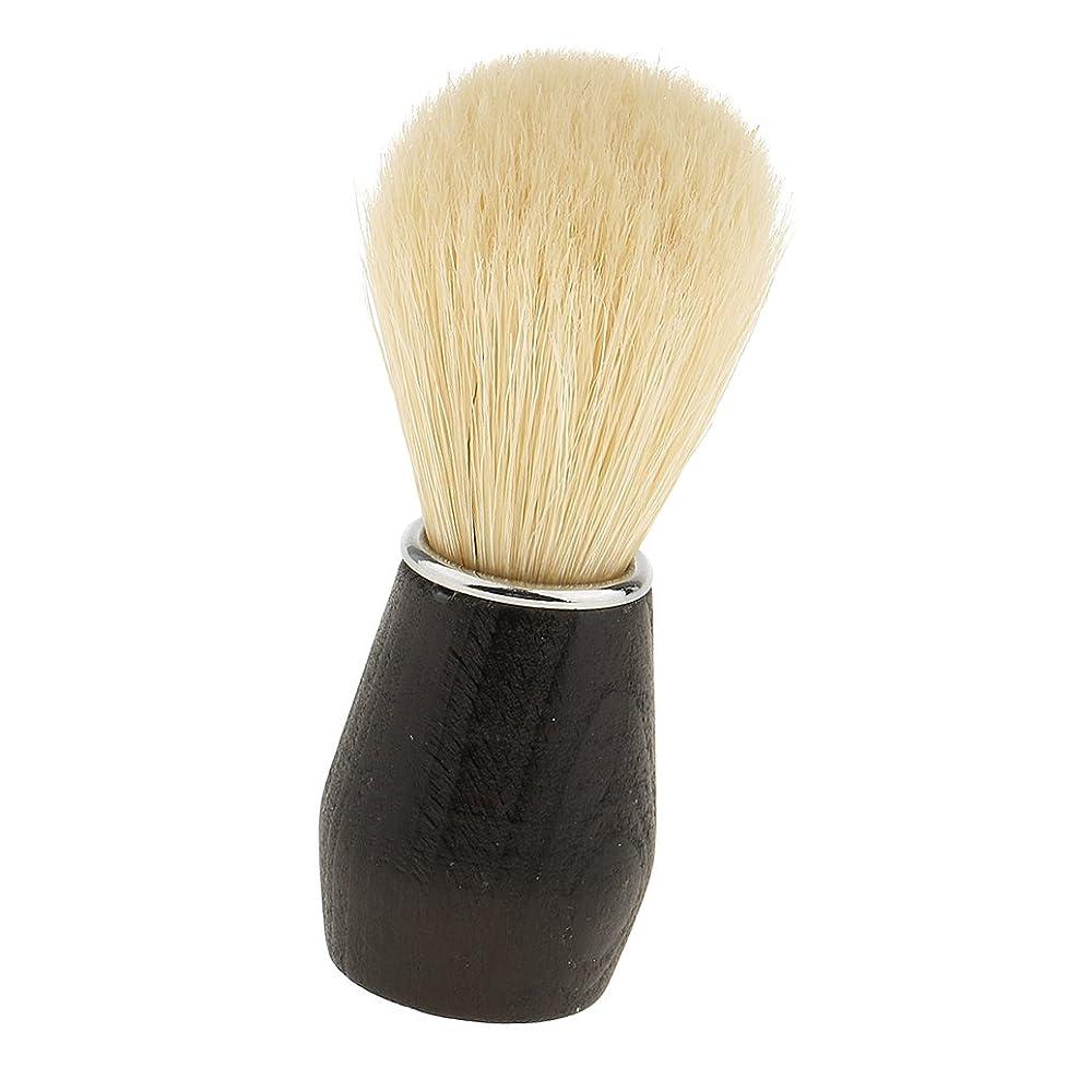 職業電池リラックスしたsharprepublic シェービングブラシ ヘアシェービングブラシ 毛髭ブラシ 髭剃り 泡立ち メンズ ソフト 父のギフト