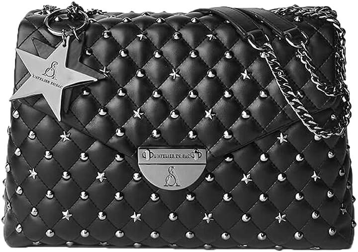 Borsetta donna pash bag by l atelier du sac linea holi rebel nero B08JQRRL2P