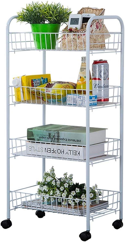 4 Tier Trolley Vegetable Fruit Rack Kitchen Bathroom Storage Trolley Rack -40  27  85cm