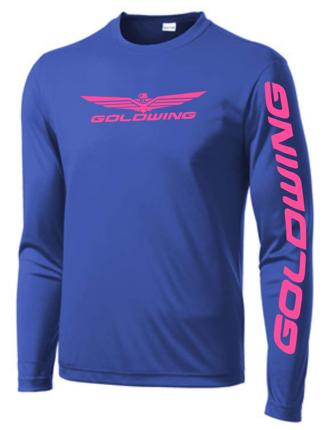Unisex Long Sleeve Goldwing Ranking TOP18 wicking T-shirt We OFFer at cheap prices visibility roya high