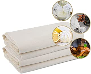 Cheesecloth, Reusable, Unbleached Cotton Fabric, Ultra Fine Cheesecloth for Ultra Fine Cloth for Cooking, Butter Nut Milk ...