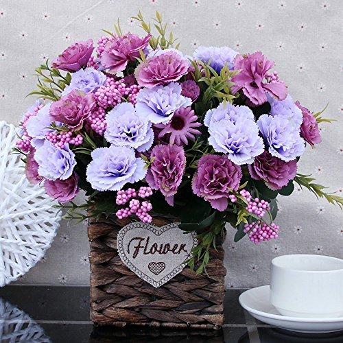 Flinfeays Fiori Artificiali Fiori Finti Creativi Fai Da Te Festa Di Nozze Cucina Decorazioni Per La Casa Composizione Floreale Grande Decorazione Piccolo Vaso Di Vaso Viola -40