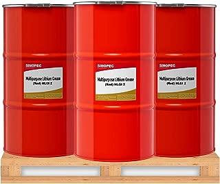 Sinopec Red Multipurpose Lithium Grease #2-120LB. (16 Gallon) Keg (3)
