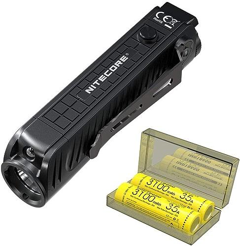 Nitecore P18 Unibody Die-cast Futuristic Tactical Flashlight - 1800 Lumen w  2X IMR Battery & Eco-Sensa Battery Case