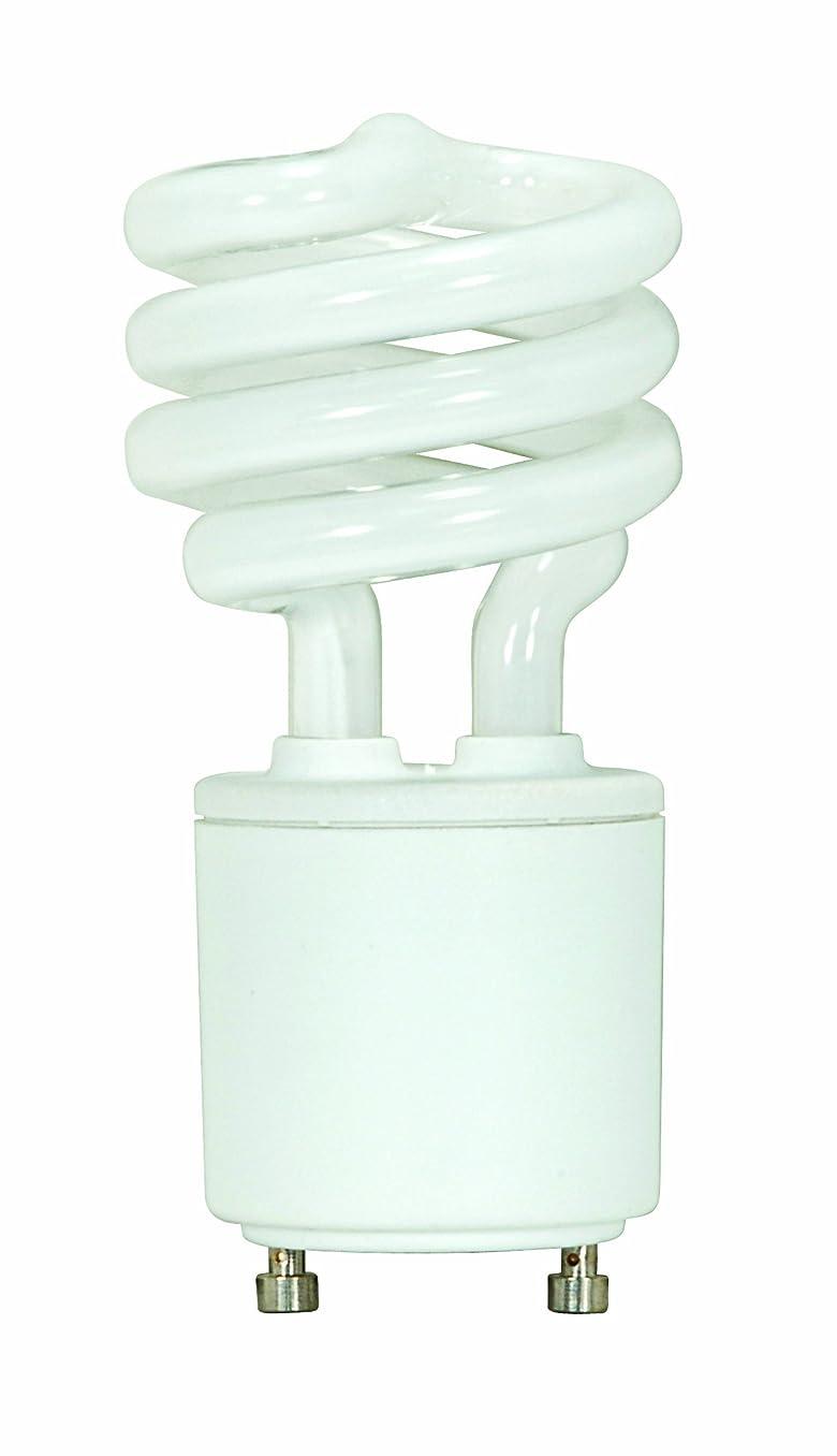 Satco S8203 13 Watt (60 Watt) 800 Lumens Mini Spiral CFL Soft White 2700K GU24 Base Light Bulb