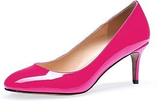 """elashe Femme Escarpins Talon Moyen 2.6"""" Escarpins Femme Petit Talon Eté Elégant Chaussure Chic"""