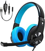 Cuffie Gaming per PS4XBOX ONE, vobon Micro Casco Gamer stereo rumore basso con LED, controllo del volume, regolabile per ...