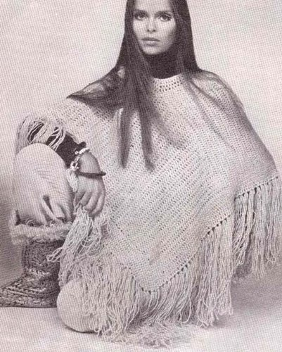 Hippie Crochet Poncho Pattern (English Edition)