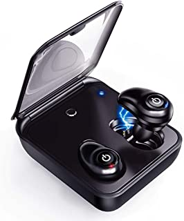 [Updated Version] Wireless Earbuds, Bluetooth 5.0 Cordless Wireless Earbuds with Mic for Android/iOS, Hi-Fi Stereo, Auto Pairing Earphones with 2000mAh Charging Case as Power Bank by Relaxyo