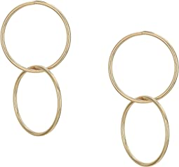Linked Rings Drop Earrings