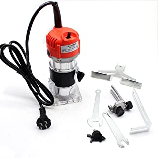 KANING 30000RPM 1/4'' Electric Hand Trimmer Wood Laminate Palm Router Joiner Tool 800W