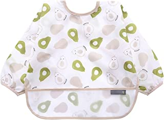6-42 Months Toddler Baby Sleeved Bibs Waterproof Eating and Painting Smock. JNINTH